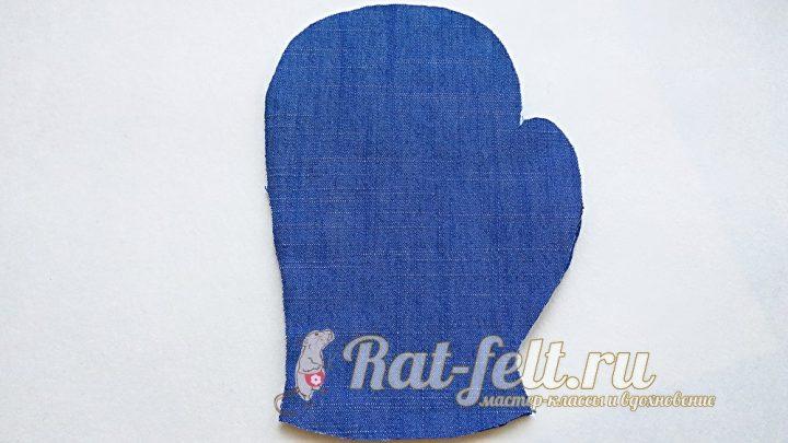варежка из ткани
