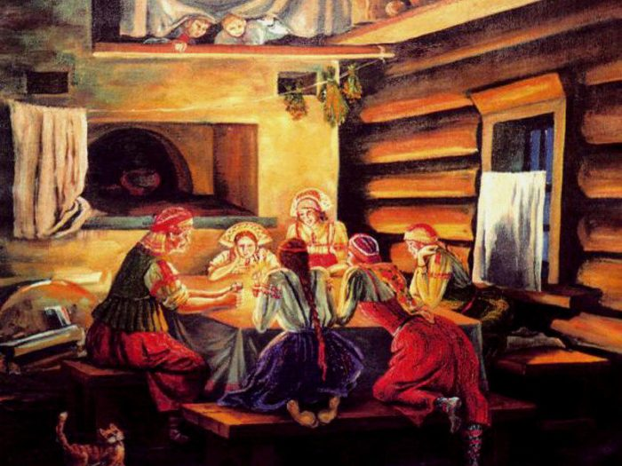 Приготовление к святочным гаданиям