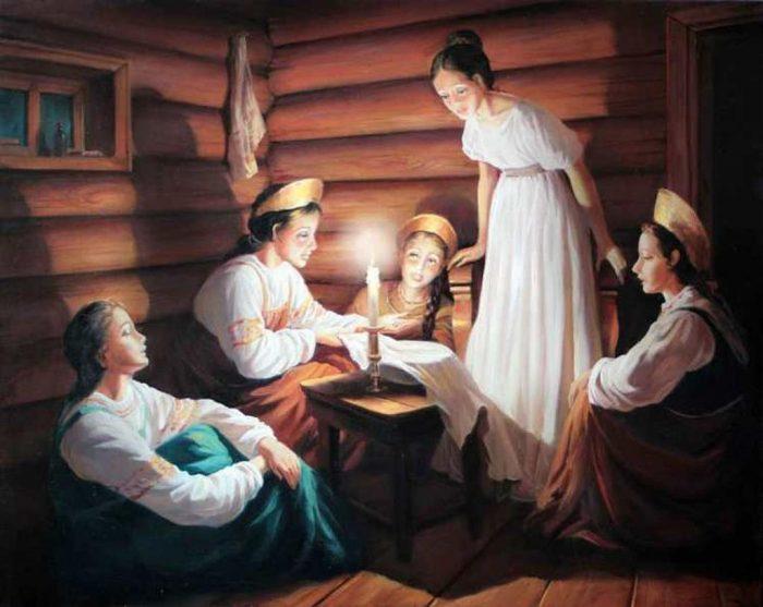 Особенности святочных гаданий