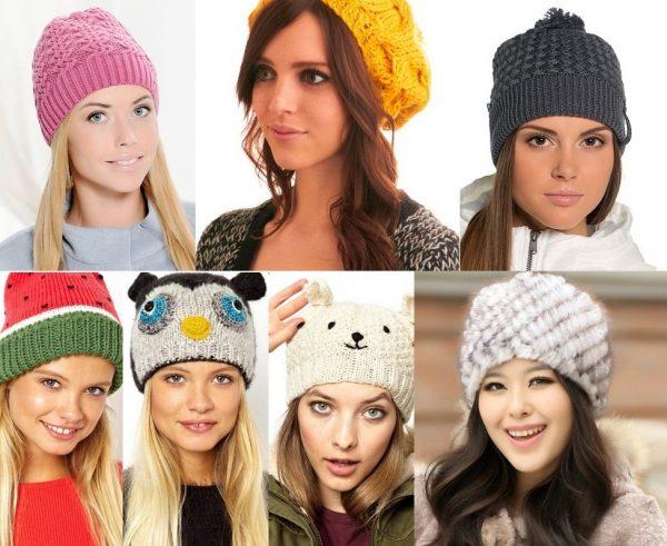 как связать шапку спицами для женщины новые модели 2019 схемы