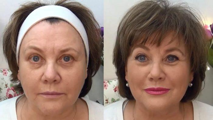 Макияж глаз для женщин 50 лет