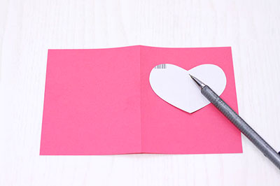 Открытка другу, как аккуратно согнуть картон для открытки