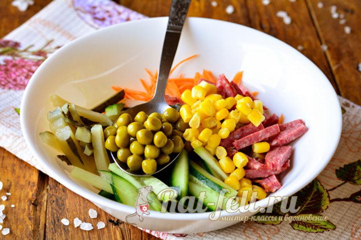 кукуруза и горошек