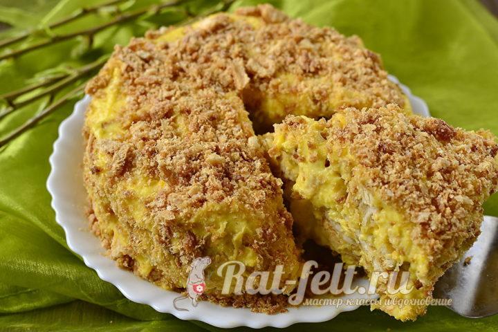 десерт из заварными кремом