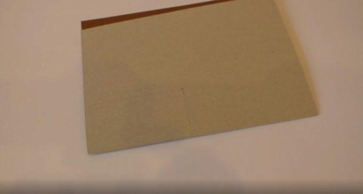 делаем линии на картоне