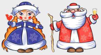 Миниатюра к статье Как нарисовать Деда Мороза и Снегурочку карандашом поэтапно