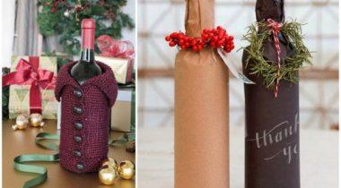 Миниатюра к статье Оформление бутылки шампанского на Новый год 2019 своими руками