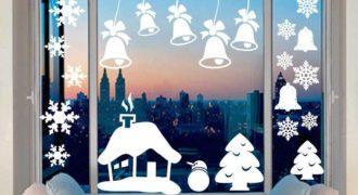 Миниатюра к статье Трафареты на окна к Новому году 2021 для вырезания