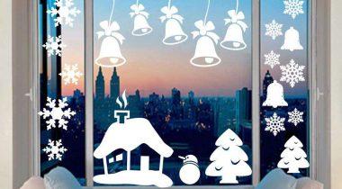 Миниатюра к статье Трафареты на окна к Новому году 2019 для вырезания