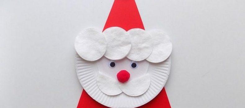 Миниатюра к статье Как сделать Деда Мороза своими руками из ватных дисков