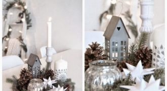 Миниатюра к статье Новогодний декор: елка на стене и хенд-мейд мишура