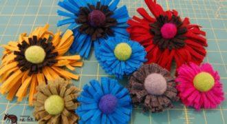 Миниатюра к статье Цветы из фетра и шерсти своими руками