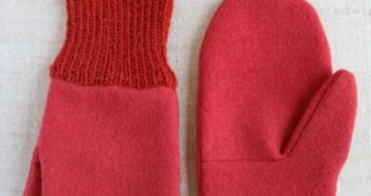 Миниатюра к статье Фетровые рукавицы с вязаными манжетами