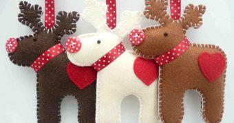 Миниатюра к статье Как сшить новогодние игрушки из фетра