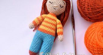 Миниатюра к статье Кукла амигуруми крючком