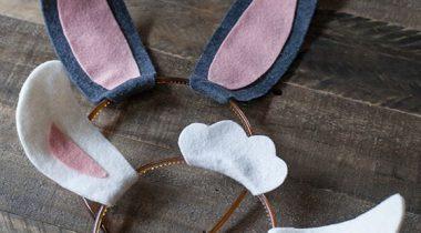 Миниатюра к статье Ободок с ушками кролика или ягненка своими руками