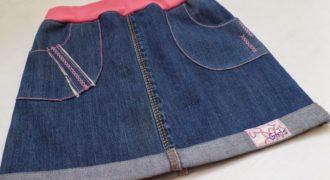 Миниатюра к статье Как сшить юбку из старых джинсов своими руками: пошаговые фото и видео