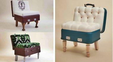 Миниатюра к статье 9 замечательных идей по использованию старых чемоданов