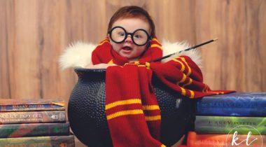 Миниатюра к статье Гарри Поттер — прелестная фотосессия четырехмесячной девочки