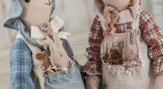 Миниатюра к статье Заяц и кролик тильда – выкройки, МК, идеи для вдохновения