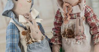 Миниатюра к статье Заяц и кролик тильда - выкройки, МК, идеи для вдохновения