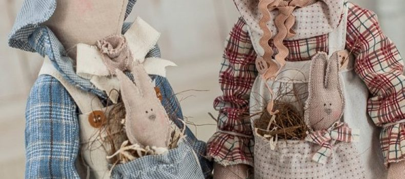 Миниатюра к статье Заяц и кролик тильда — выкройки, МК, идеи для вдохновения