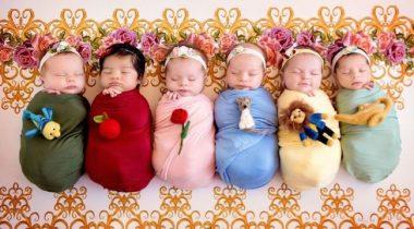 Миниатюра к статье Волшебная фотосессия новорожденных в образах принцесс Дисней