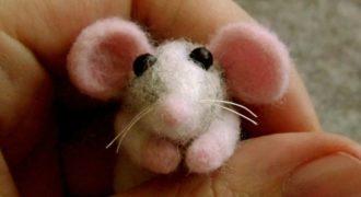 Миниатюра к статье Милый валяный крысенок