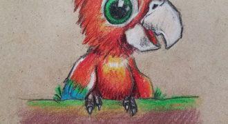 Миниатюра к статье Пошаговый мастер-класс как просто нарисовать попугая