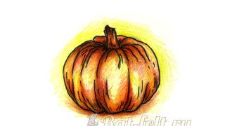 Миниатюра к статье Как нарисовать тыкву