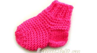 Миниатюра к статье Оригинальный способ связать детский носок на двух спицах