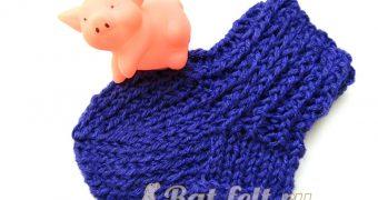 Миниатюра к статье Детские носки на 5 спицах - пошаговый мастер-класс
