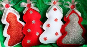Миниатюра к статье Новогодние игрушки из фетра своими руками на Новый год 2021: идеи с выкройками