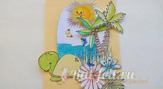 Миниатюра к статье Красивая открытка из бумаги своими руками