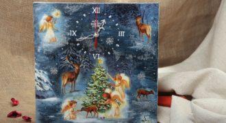 Миниатюра к статье Новогодние часы своими руками для детского сада: пошаговый мастер-класс с фото