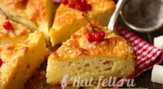 Миниатюра к статье Пирог к чаю как пух — быстро и вкусно