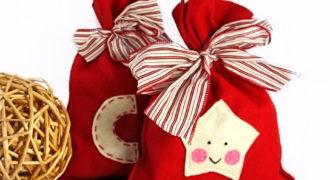 Миниатюра к статье Новогодние мешочки для подарков своими руками 2019: пошаговый мастер-класс с фото