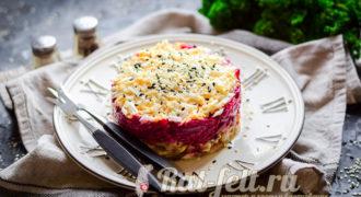 Миниатюра к статье Салат «Сербский» со свёклой и мясом