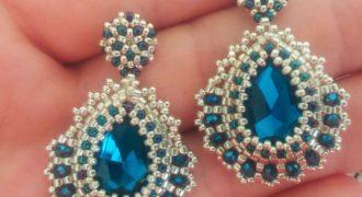 Миниатюра к статье Серьги с кристаллами своими руками