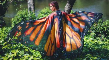Миниатюра к статье Эфирные шарфы палантины от El Costurero Real превратят вас в бабочку!