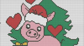 Миниатюра к статье Схемы для вышивки символа 2019 года – Свинья