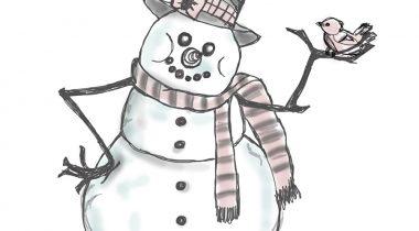Миниатюра к статье Милый снеговик карандашом поэтапно