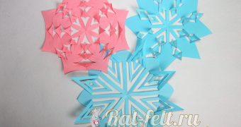 Миниатюра к статье Как сделать из бумаги снежинку-киригами