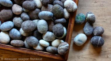 Миниатюра к статье Реалистичные валяные камни