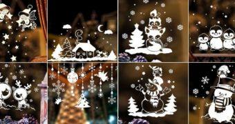 Миниатюра к статье Чем и как украсить окна на Новый год 2019 своими руками