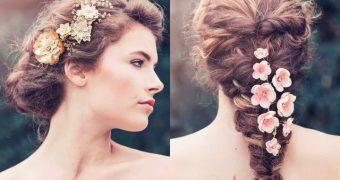 Миниатюра к статье Сказочно нежные свадебные украшения для волос - почувствуй себя принцессой