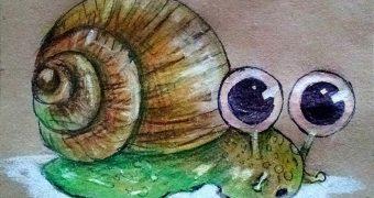 Миниатюра к статье Как нарисовать улитку карандашом - пошаговый мастер-класс