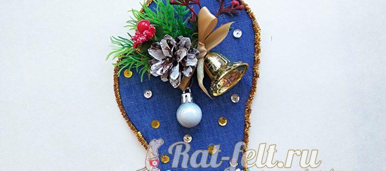 Миниатюра к статье Новогодняя варежка своими руками — елочная игрушка или магнит