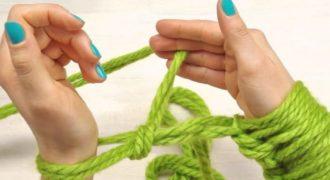 Миниатюра к статье Вяжем без крючка и спиц: техника вязания пледа