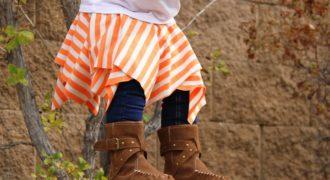 Миниатюра к статье Яркая юбка из квадратов для девочки – буквально за несколько минут!
